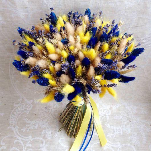 """Букеты ручной работы. Ярмарка Мастеров - ручная работа. Купить Букет """"Созвездие"""". Handmade. Синий, букет, букет невесты, сухоцветы"""