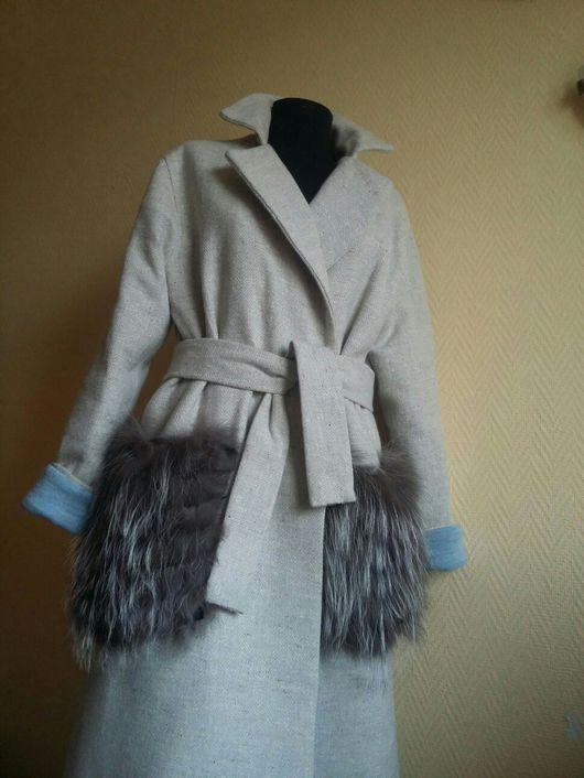 Верхняя одежда ручной работы. Ярмарка Мастеров - ручная работа. Купить Пальто серо-бежевое oversize. Handmade. Пальто oversize