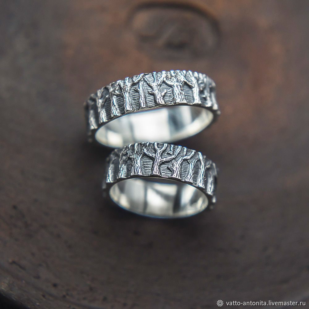 Свадебные украшения ручной работы. Ярмарка Мастеров - ручная работа. Купить  Кольца обручальные из серебра ... 0db631f8f85
