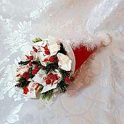 """Цветы и флористика ручной работы. Ярмарка Мастеров - ручная работа Новогодний """"Волшебный колпак"""". Handmade."""