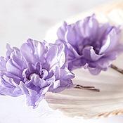 Украшения ручной работы. Ярмарка Мастеров - ручная работа 714 Фиолетовая свадьба, Цветы шпильки, Аксессуары для волос, Заколки. Handmade.