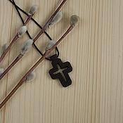 """Украшения ручной работы. Ярмарка Мастеров - ручная работа """"Фавор"""" - деревянный нательный крест из кипариса. Handmade."""