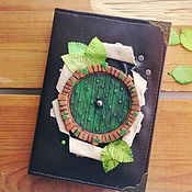 Канцелярские товары handmade. Livemaster - original item Notebook with a green door in a house-hole of Bilbo Baggins. Handmade.