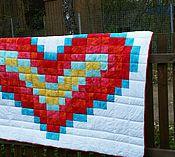 """Для дома и интерьера ручной работы. Ярмарка Мастеров - ручная работа Лоскутное одеяло """"Любовь"""". Handmade."""