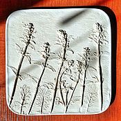 Картины и панно handmade. Livemaster - original item The dragonhead Botanical Plaster Bas-relief panels. Handmade.