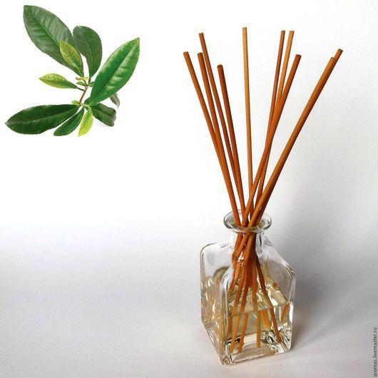 Ярмарка Мастеров - ручная работа. Купить Ароматизатор-диффузор для дома Зеленый Чай 100 мл на основе натуральных масел. Handmade.