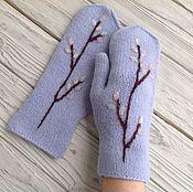 Аксессуары handmade. Livemaster - original item A copy of the work Mittens knitted, felted twig willow. Handmade.