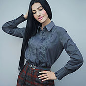 Одежда handmade. Livemaster - original item Stylish embroidered blouse