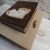 """Блокноты ручной работы. Ярмарка Мастеров - ручная работа """"В шоколаде""""Состаренный блокнот,натуральная замша-кожа,ручная работа. Handmade."""