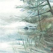 """Картины и панно ручной работы. Ярмарка Мастеров - ручная работа """"Зачарованный лес -пусть на листьях не будет росы по утру..."""" акварель. Handmade."""