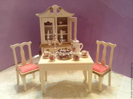 Куклы и игрушки ручной работы. Ярмарка Мастеров - ручная работа. Купить Кукольная миниатюра сервиз чайный на 2 персоны. Handmade.