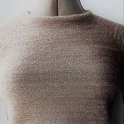 Одежда ручной работы. Ярмарка Мастеров - ручная работа Короткий свитер из кид-мохера «Теплый какао». Handmade.