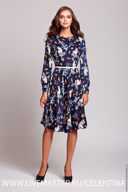 28b8d68cc02 Короткое летнее платье из шелка. Платье на лето. Платье с принтом ...