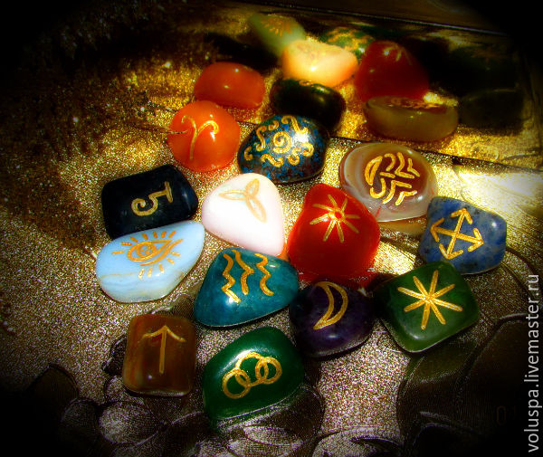 Divination handmade. Livemaster - handmade. Buy A set of stones 'Witches' Runes'.Magic, slavic, rune of stone