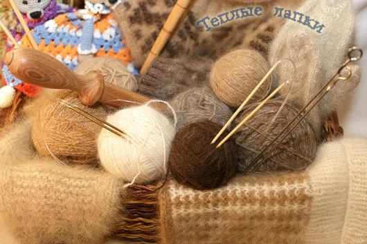 Вязание ручной работы. Ярмарка Мастеров - ручная работа. Купить пряжа из собачьей шерсти. Handmade. Собачья шерсть, теплый шарф