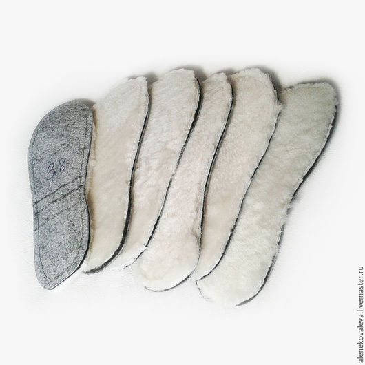 Обувь ручной работы. Ярмарка Мастеров - ручная работа. Купить Стельки меховые из овчины. Handmade. Белый, меховые стельки