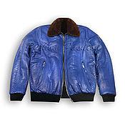 handmade. Livemaster - original item Winter jacket made of Python POLE. Handmade.