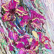 """Картины и панно ручной работы. Ярмарка Мастеров - ручная работа """"Кружевной Танец"""" - картина с цветами маслом. Handmade."""