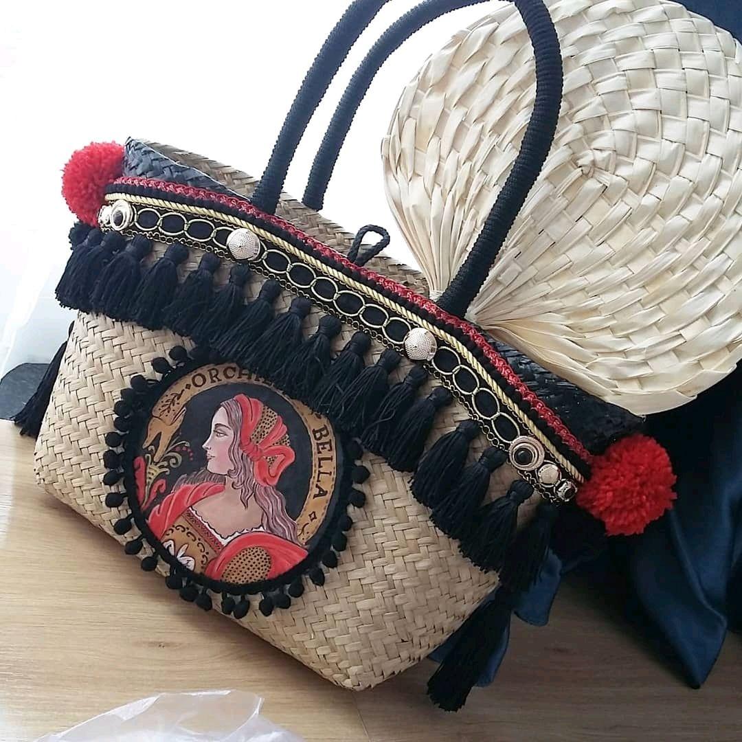 Соломенная сумка ручной работы. Эксклюзивные сумки ручной работы. Лето, Классическая сумка, Сочи,  Фото №1