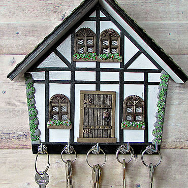 For home and interior handmade. Livemaster - original item Housekeeper Alpine house. The housekeeper wall.Decor with polymer clay.. Handmade.