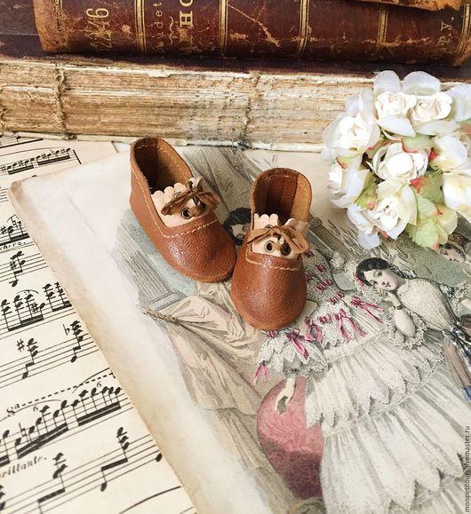 Одежда для кукол ручной работы. Ярмарка Мастеров - ручная работа. Купить Антикварная кукла .Туфли для антикварной куклы. Handmade.