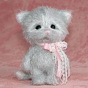 Куклы и игрушки ручной работы. Ярмарка Мастеров - ручная работа Котенок (котик, вязаная игрушка). Handmade.