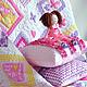 """Пледы и одеяла ручной работы. Ярмарка Мастеров - ручная работа. Купить Лоскутное покрывало (текстильный комплект) """"Розовые грезы"""". Handmade."""