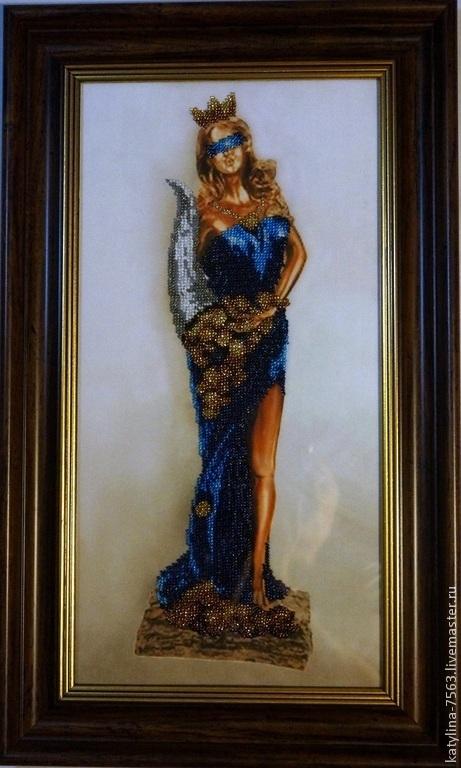 """Символизм ручной работы. Ярмарка Мастеров - ручная работа. Купить """"Богиня удачи Фортуна"""". Handmade. Богиня, картина в подарок, стекло"""