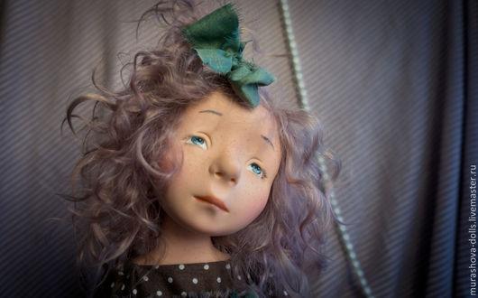 Коллекционные куклы ручной работы. Ярмарка Мастеров - ручная работа. Купить Кофейное драже. Handmade. Коричневый, трессы