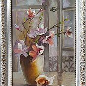 Картины ручной работы. Ярмарка Мастеров - ручная работа Цветы на окне. 20х30см. Handmade.