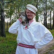 Русский стиль ручной работы. Ярмарка Мастеров - ручная работа Рубаха с вышивкой. Handmade.