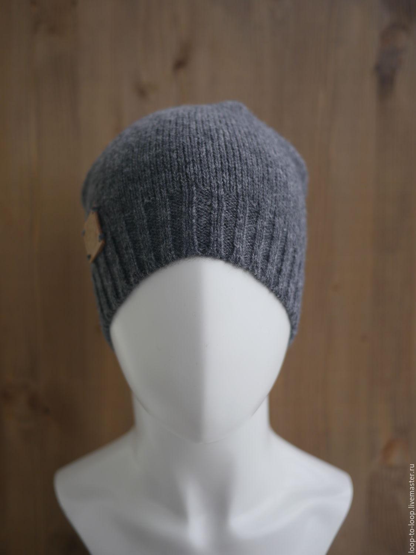 Мужская вязаная шапка – купить в интернет-магазине на ...