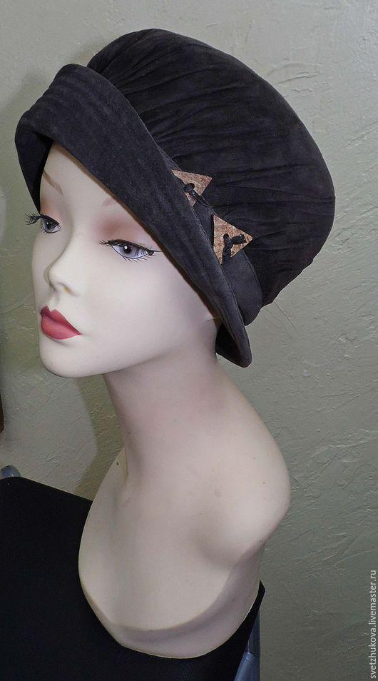 Шляпы ручной работы. Ярмарка Мастеров - ручная работа. Купить Шляпа замшевая 049. Handmade. Коричневый, замша, вискозная подкладка