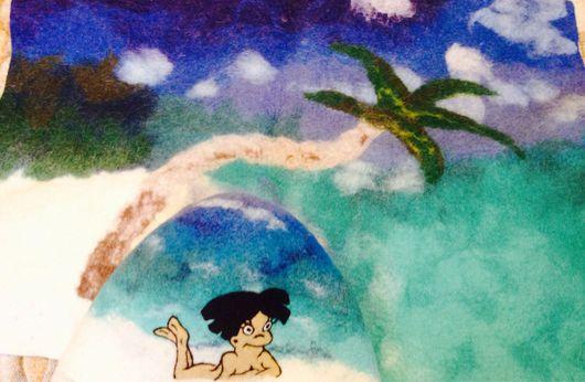 Банные принадлежности ручной работы. Ярмарка Мастеров - ручная работа. Купить Воспоминания о Доминикане. Handmade. 100% шерсть, банные аксессуары