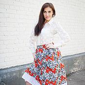 Одежда handmade. Livemaster - original item New - Summer skirt - Daisies. Handmade.