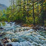 Картины ручной работы. Ярмарка Мастеров - ручная работа Горная река. Handmade.
