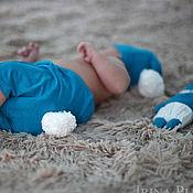 Работы для детей, ручной работы. Ярмарка Мастеров - ручная работа Комплект для фотосессий новорожденного мальчика Зайчишка. Handmade.
