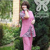 """Одежда ручной работы. Ярмарка Мастеров - ручная работа Костюм """"Летняя прохлада"""" (розовый). Handmade."""
