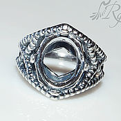Материалы для творчества handmade. Livemaster - original item The basis for ring Hera(10х12 mm) - silver 925. Handmade.