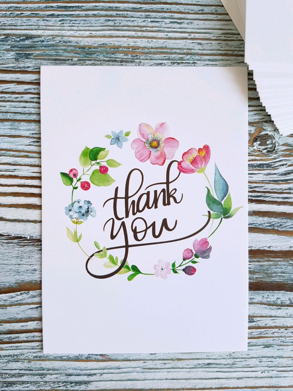 "Открытка 7,5х10 см, ""Thank you"", Упаковка, Москва, Фото №1"