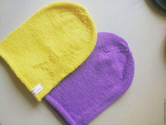 Шапки ручной работы. Ярмарка Мастеров - ручная работа. Купить Шапка бини. Handmade. Желтый, шапка бини, шапка женская