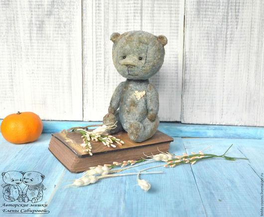 Мишки Тедди ручной работы. Ярмарка Мастеров - ручная работа. Купить Мишка тедди Антошка. Handmade. Мишка серо-изумрудный