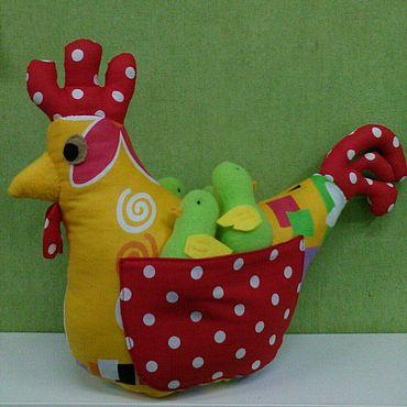 Куклы и игрушки ручной работы. Ярмарка Мастеров - ручная работа Курица и 4 цыпленка. Handmade.