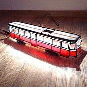 Ночники ручной работы. Ярмарка Мастеров - ручная работа Трамвай-светильник. Handmade.
