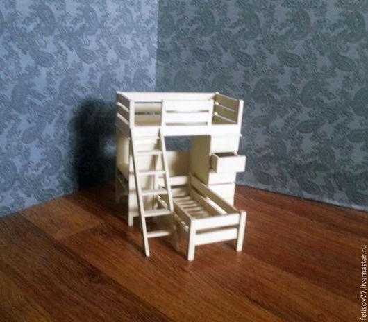 Кукольный дом ручной работы. Ярмарка Мастеров - ручная работа. Купить Кукольный спальный гарнитур. Handmade. Разноцветный, кукольная мебель