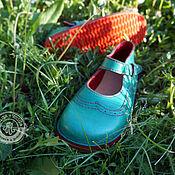 Sandals handmade. Livemaster - original item Green sandals by your standards. Handmade.