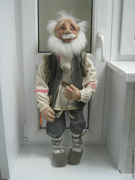 """Портретные куклы ручной работы. Ярмарка Мастеров - ручная работа. Купить Кукла """"Дед"""". Handmade. Кукла, капрон"""
