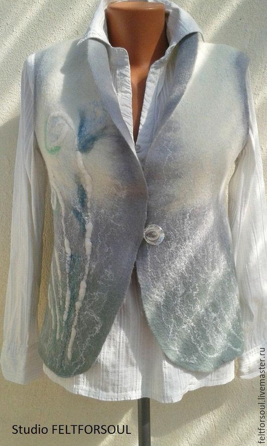 """Жилеты ручной работы. Ярмарка Мастеров - ручная работа. Купить Жилет """"нежность"""". Handmade. Белый, жилет для девушки, подарок девушке"""