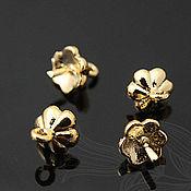 Материалы для творчества handmade. Livemaster - original item Pins for jewelry with a cap art. 4-10C, gilding. Handmade.