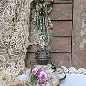 """Для дома и интерьера ручной работы. Ярмарка Мастеров - ручная работа Керосиновая лампа """"Винтажные розы"""". Handmade."""